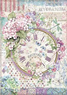 Decoupage Vintage, Papel Vintage, Vintage Paper Crafts, Paper Clock, Rice Paper Decoupage, Decoupage Art, Decoupage Printables, Computer Paper, Printable Paper