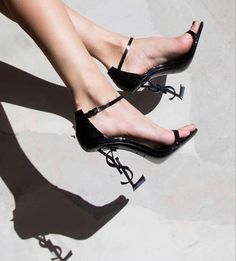 Ysl Heels, Black Heels, High Heels, Shoes Heels, Shoe Zone, Chanel Print, Saint Laurent Shoes, Style Noir, Next Shoes
