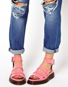 Dr. Martens Clarissa Acid Pink Sandals in Pink