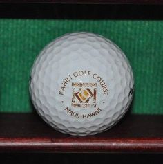 Kahili Golf Course Maui Hawaii logo golf ball.
