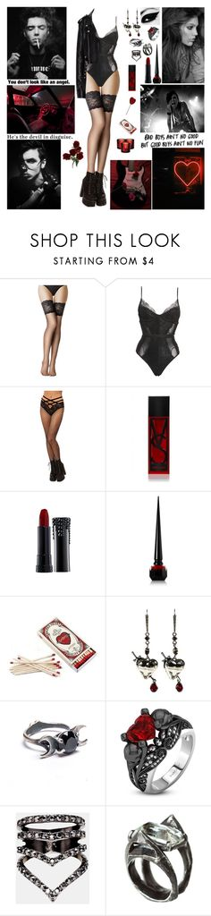 """✖ No need to imagine 'cause I know it's true. They say all good boys go to Heaven. But bad boys bring Heaven to you. It's automatic, it's just what they do. ✖"" by blueknight ❤ liked on Polyvore featuring Fogal, Victoria's Secret, Sephora Collection, Christian Louboutin, Alexander McQueen, River Island, Unearthen and iittala"