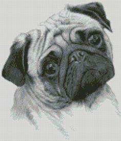 Cross Stitch Chart or Complete Kit Pug Dog