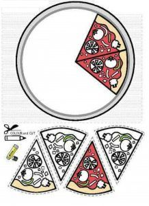 okul öncesi eğlenceli kes yapıştır etkinlikleri pizza « Okul-Ev Etkinlikleri