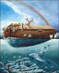 noah's ark images | Noah's Ark Paper Tole 3D Kit 16x20_1