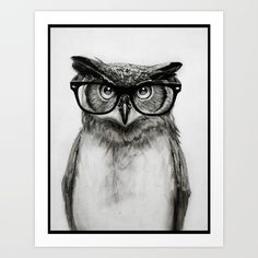 Buy Mr. Owl Art Print by Isaiah K. Stephens. Worldwide shipping available at Society6.com. Just one of millions of high quality products available.