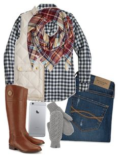 """""""Parade-#5setsofthanksgiving"""" by a-little-prep-in-your-step ❤ liked on Polyvore featuring moda, Abercrombie & Fitch, J.Crew, Tory Burch, The North Face, women's clothing, women, female, woman e misses"""