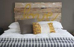 Realizzare una testata letto fai da te - Testiera letto in legno naturale