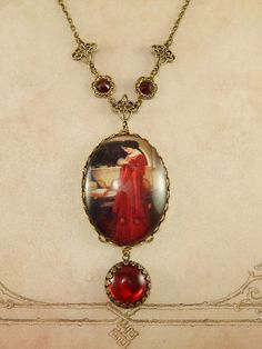The Crystal Ball ~ art pendant necklace by Ophelia's Adornments