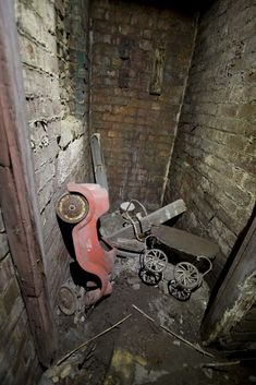 Abandoned outhouse, buried for 50 years