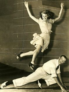 Rita Hayworth Jumping by Retro Images Archive- Rita Hayworth Jumping by Retro Images Archive Rita Hayworth &a Fred Astaire - Golden Age Of Hollywood, Vintage Hollywood, Classic Hollywood, Hollywood Couples, Gene Kelly, Divas, Fred Astaire, Musical Film, Retro Images