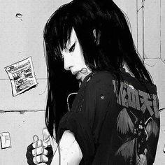 M Anime, Dark Anime, Manga Girl, Anime Art Girl, Gothic Anime Girl, Aesthetic Art, Aesthetic Anime, Character Art, Character Design