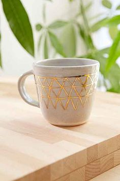 Pickle Pottery Triangles Mug