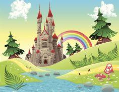 fairy castle wall mural - Google Search