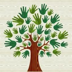 Illustration of Eco friendly tree hands illustration for greeting card over wooden pattern. file layered for easy manipulation and custom coloring. vector art, clipart and stock vectors. Preschool Crafts, Diy And Crafts, Crafts For Kids, Arts And Crafts, Paper Crafts, Hand Illustration, Fall Crafts, Diy For Kids, Art Lessons