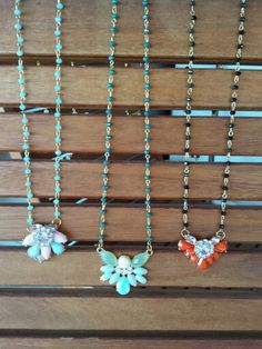 Flower rosary necklaces
