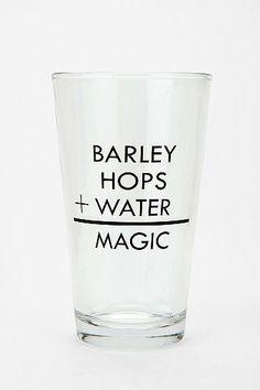 Barley + Hops + Water = Magic