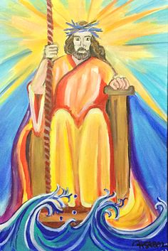 Jesus on the throne - Prophetic Art Painting