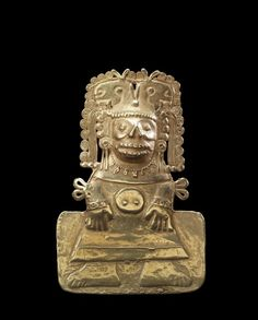 Pectoral,Ancient America's.Mexico, (Mixtec Style) (early Post classic)-gold.......