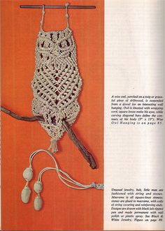 I remember My sister in law Wylean teaching me how to   Macrame me a blue purse...I wish I still had it! and hanging plants macrame holders.