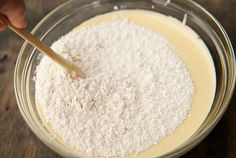 14. Add the rest of the flour mixture and stir until just combined.