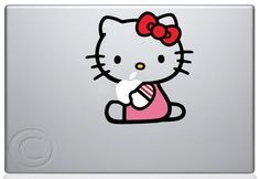 Hello Kitty Macbook Decal Mac Apple skin sticker | I OWL YOU via iowlu.com