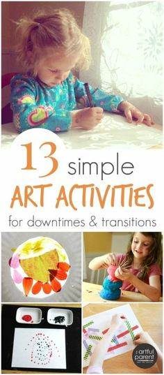 13 Simple Art Activities for Transitions