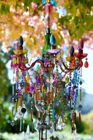 Love this - reminds me of the colourful boho chandelier I did earlier in the summer and would love to work on another one
