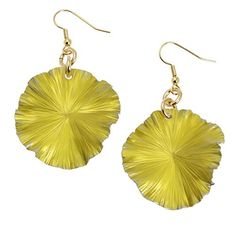 New Spectacular #Yellow Anodized Aluminum Leaf Earrings https://www.aluminum-jewelry.com/product/yellow-anodized-aluminum-leaf-earrings Highlighted on #AluminumJewelry #Aluminum