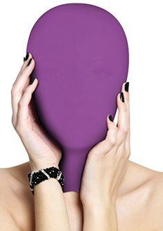 Ouch! Unterwerfung Maske - violett - Bondage Toys - Fetish