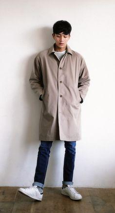 Simple Reglan Coat #AsianFashion #KoreanFashion #Men #Style #Casual --- $84.00