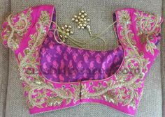 Zardosi Saree Blouse in Pink | Saree Blouse Patterns