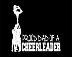 Proud Dad of a Cheerleader Decal Stunt Scorpion Cheerleading Laptop Cheer Window Vinyl Car Sticker