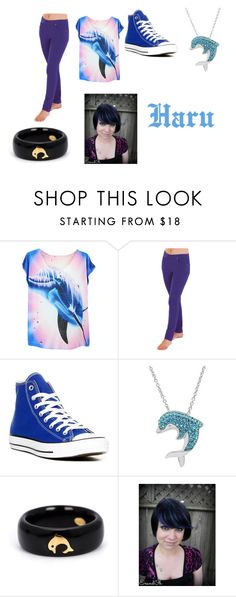 """""""Haruka Nanase Closet Cosplay"""" by thecrystalheart on Polyvore featuring Converse, Amanda Rose Collection and Kristin Hanson"""