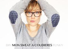 Diy : mon sweat à coudières funky (Mini gifts inside)