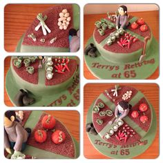 Allotment themed cake