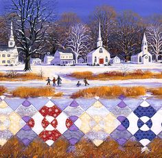 """Steeple Chase"" Quiltscape by Rebecca Barker"