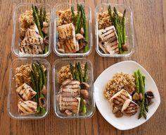 Tilapia Asparagus Mushroom Couscous Lunch Boxes
