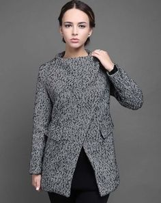 Fur And Zip Detail Jacket blackDIVJF26
