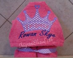 Princess Towel with name ... Oversized Hooded Towel