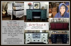 Just the Woods, llc-meet Kandice, the owner, artist, blogger, mom, wife & veteran who specializes in custom hand painted furniture using non toxic products.