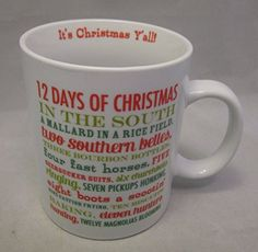 Slant Collections 12 Days of Christmas In the South Coffee Mug