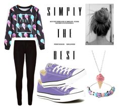 """""""Ice cream madness"""" by halleyxoxo1 on Polyvore featuring Converse and Zara Taylor"""