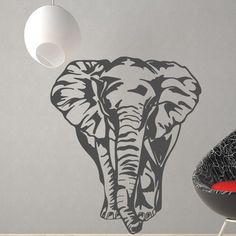 Style and Apply Big Elephant Wall Decal Color: Sage
