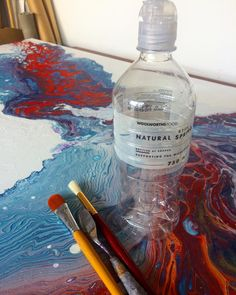 """Fluid painting techniques and and pouring medium. Tips and tricks. Zhanna Abstract Artist (@zhanna_abstract) on Instagram: """"Pouring medium: R500... Bottle of water: R9. Being creative: PRICELESS! If you want to experiment…"""" Painting Techniques, Art Tutorials, Experiment, Water Bottle, Abstract, Medium, Drawings, Creative, Instagram Posts"""
