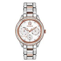 Citizen Ladies' Rose-Tone Stainless Steel Eco-Drive Silhouette Crystal Watch Citizen Watches, Diamond Jewelry, Latest Fashion, Stainless Steel, Silhouette, Crystal, Rose, Bracelets, Earrings