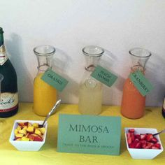 Mimosa Bars | 15 Crucial Items You Need On Your Wedding Day, According To Pinterest
