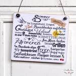 Vintage Dekoschild Holzschild HERBSTZAUBER im Shabby Chic