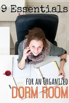 9 Essentials for an Organized Dorm Room! Awesome list for a first-year college student! | eBay college student tips #college #student