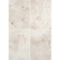 """Daltile Esta Villa 14"""" x 10"""" Glass and Metal Field Tile in Garden White"""
