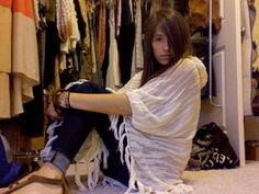 Free People poncho ...... make this by sewing  the ends of a giant sarong for the sides
